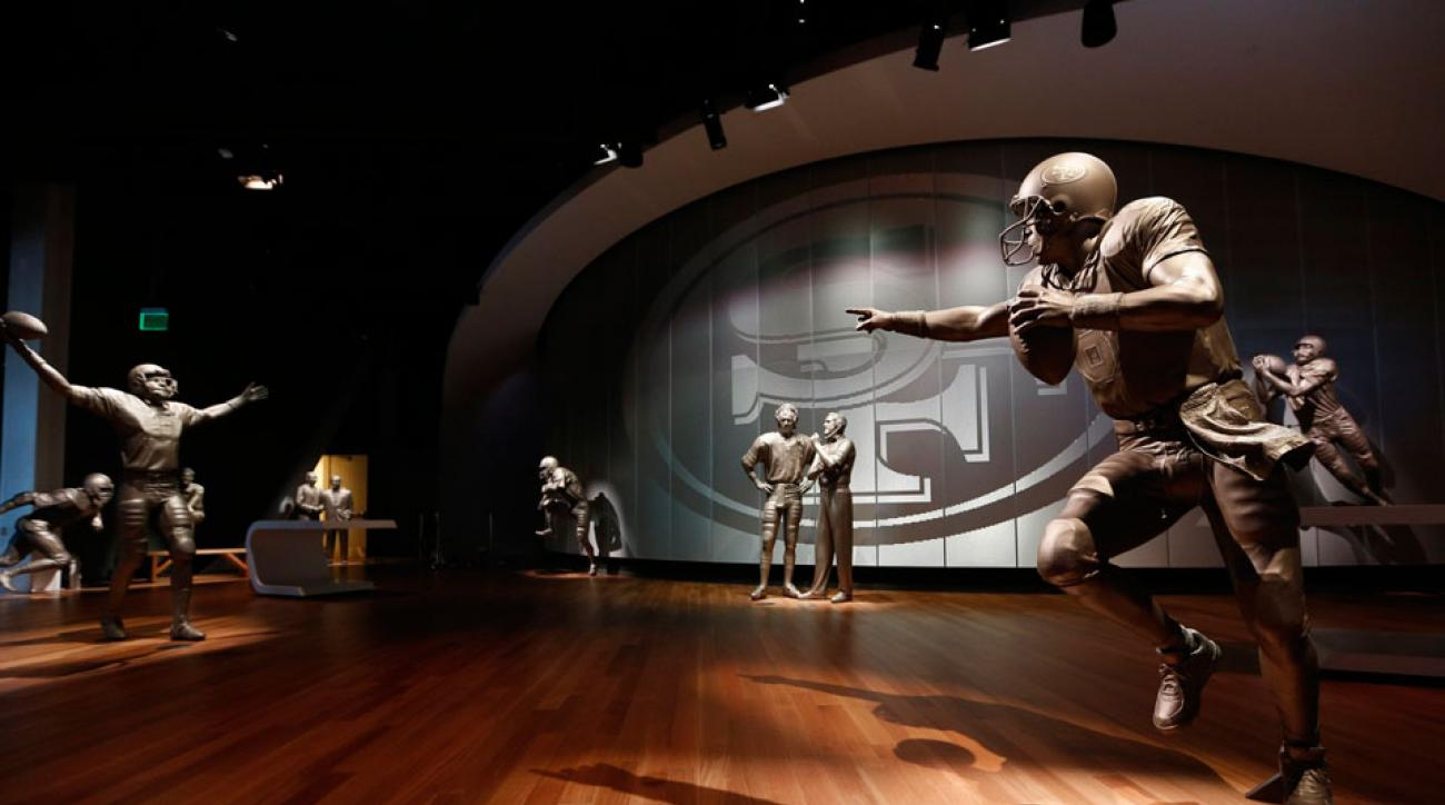 d74d5bac0 San Francisco 49ers  new Hall of Fame statues are awesome