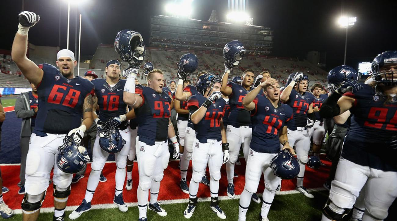 Arizona Wildcats celebrate win over UNLV