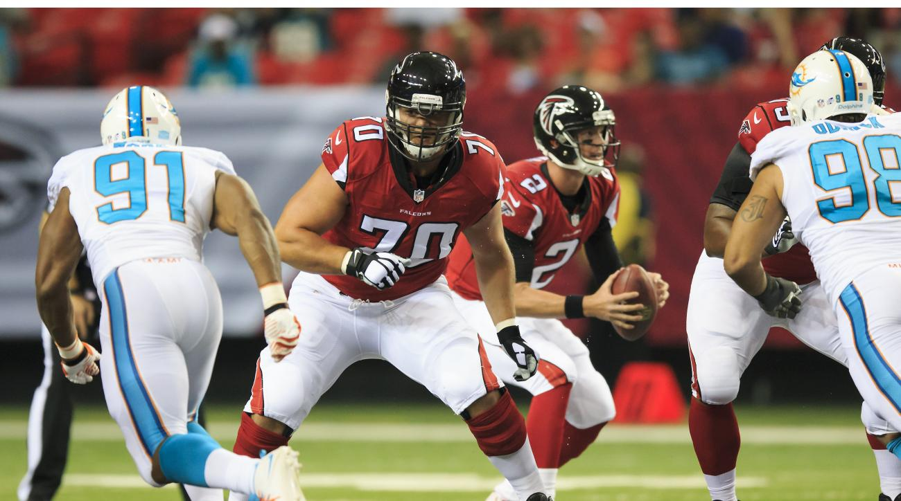 Jake Matthews is part of a rebuilt offensive line.