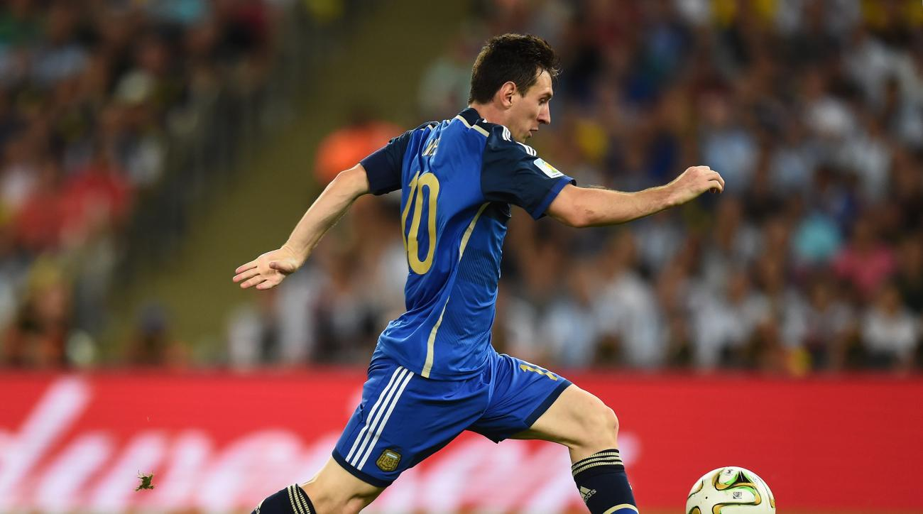lionel messi argentina germany friendly groin strain