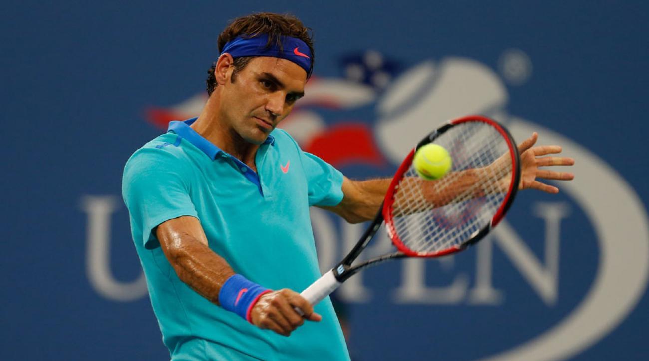 Roger Federer U.S. Open Day 9
