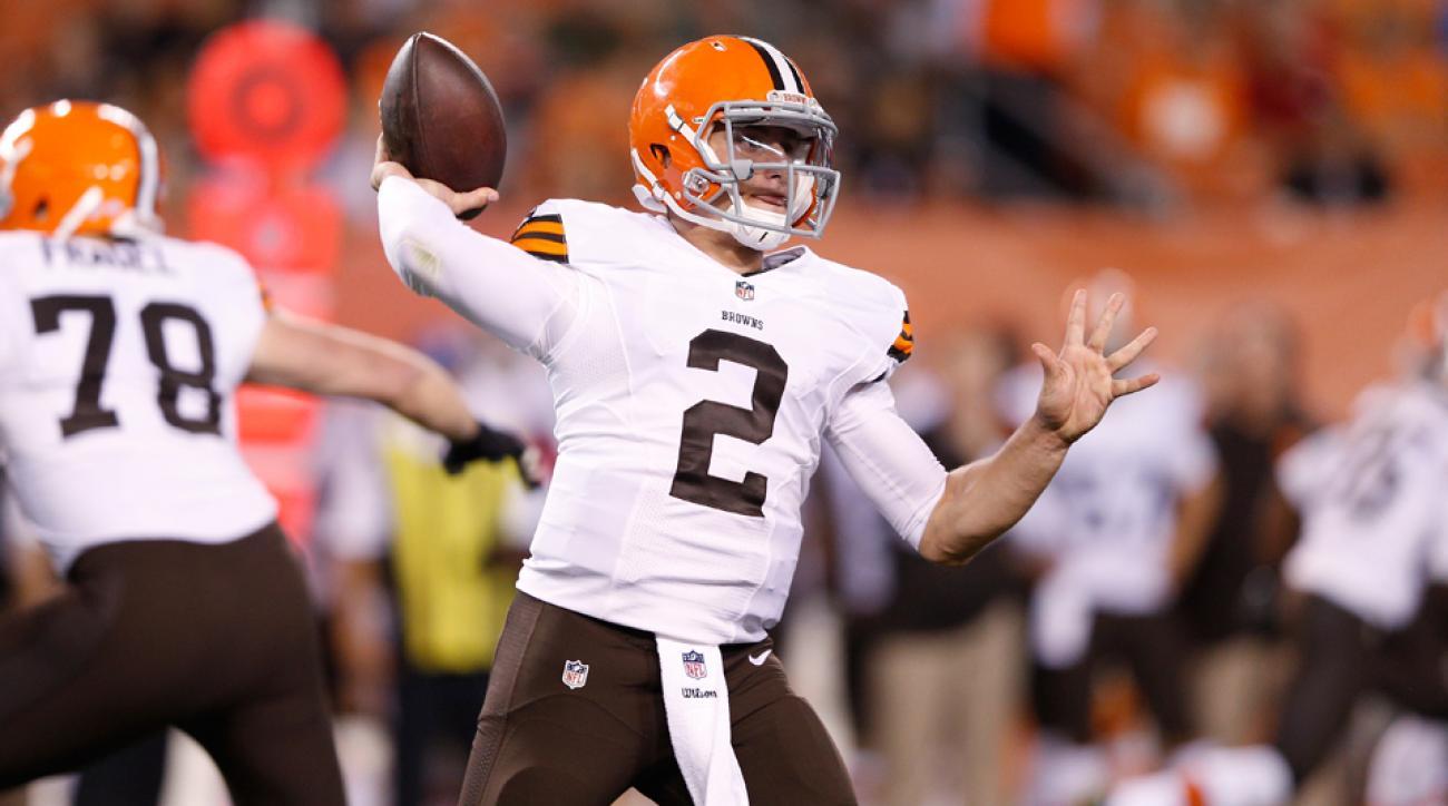 Johnny Manziel Browns Quarterback throw
