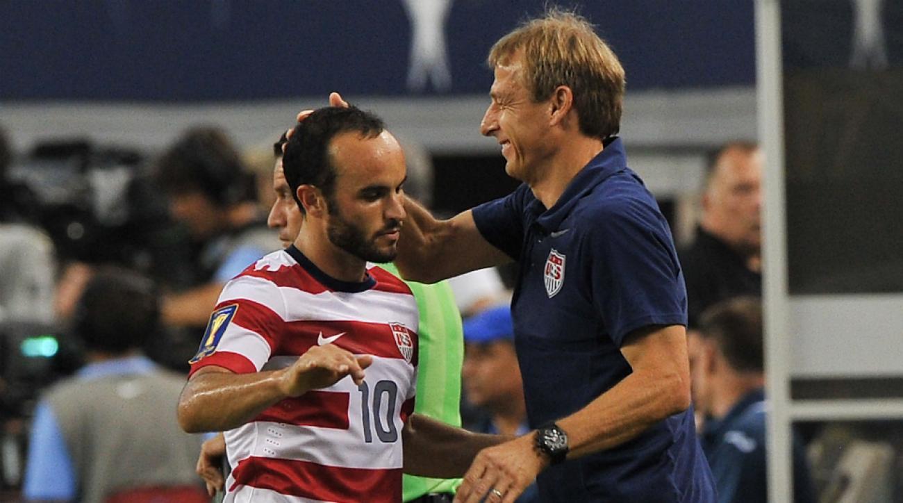 Jurgen Klinsmann Landon Donovan final game