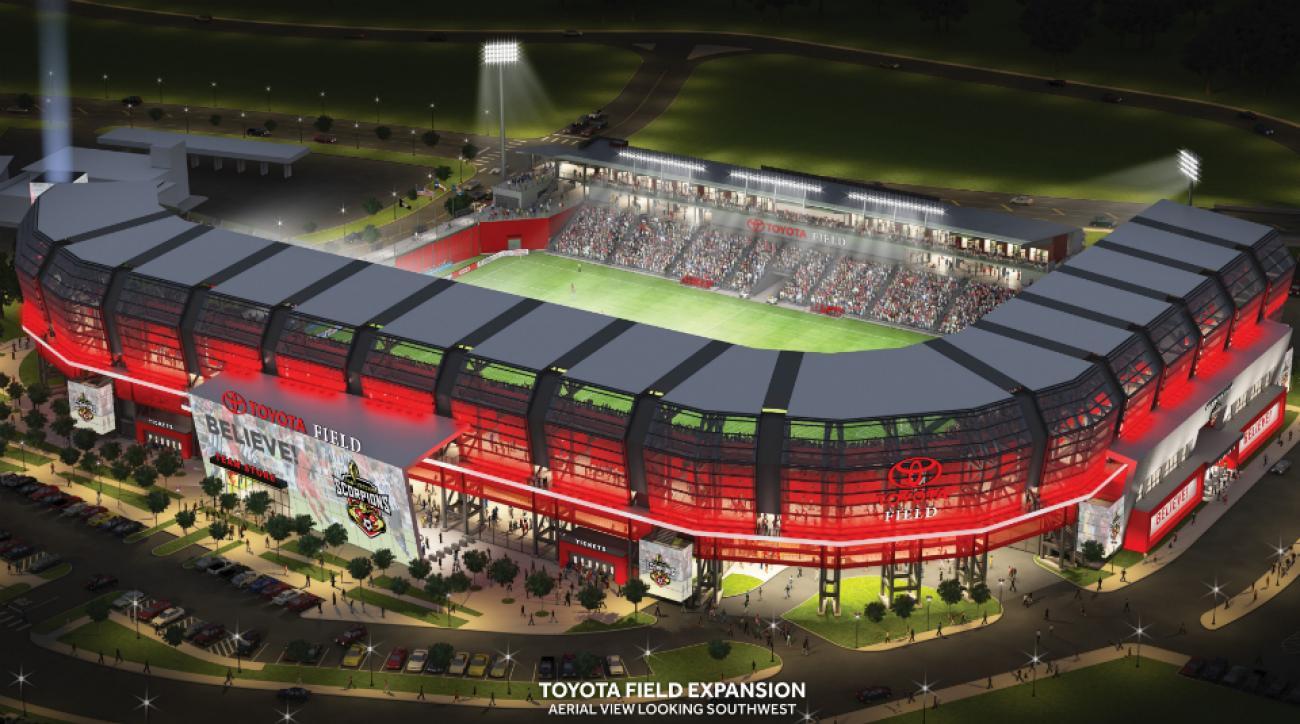 San Antonio Scorpions Toyota Stadium expansion
