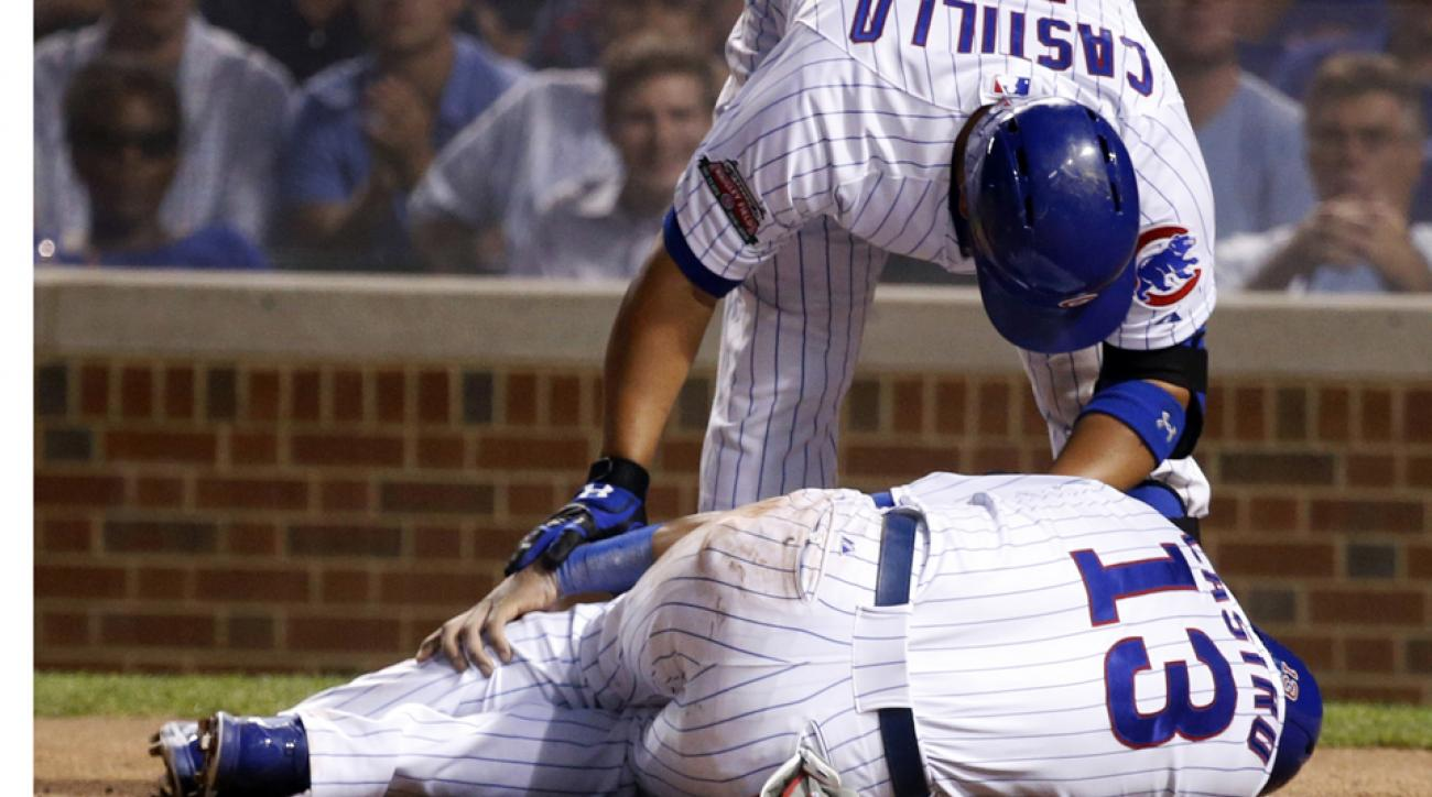 Cubs Starlin Castro injures ankle home plate slide