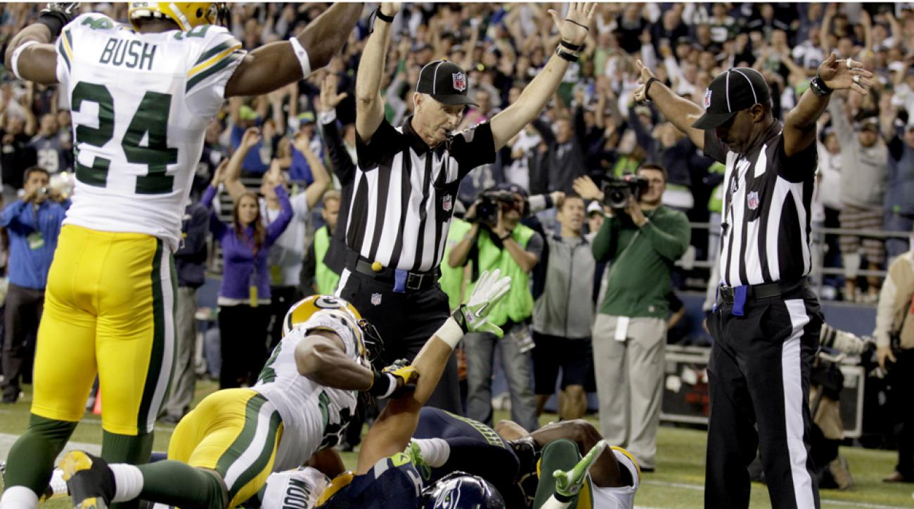 packers seahawks fail mary referee defends call