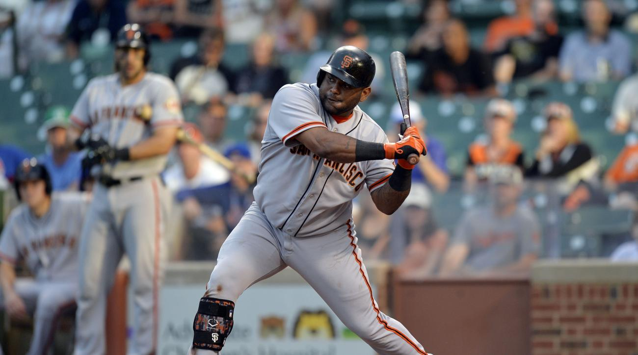 Pablo Sandoval San Francisco Giants day off manager Bruce Bochy