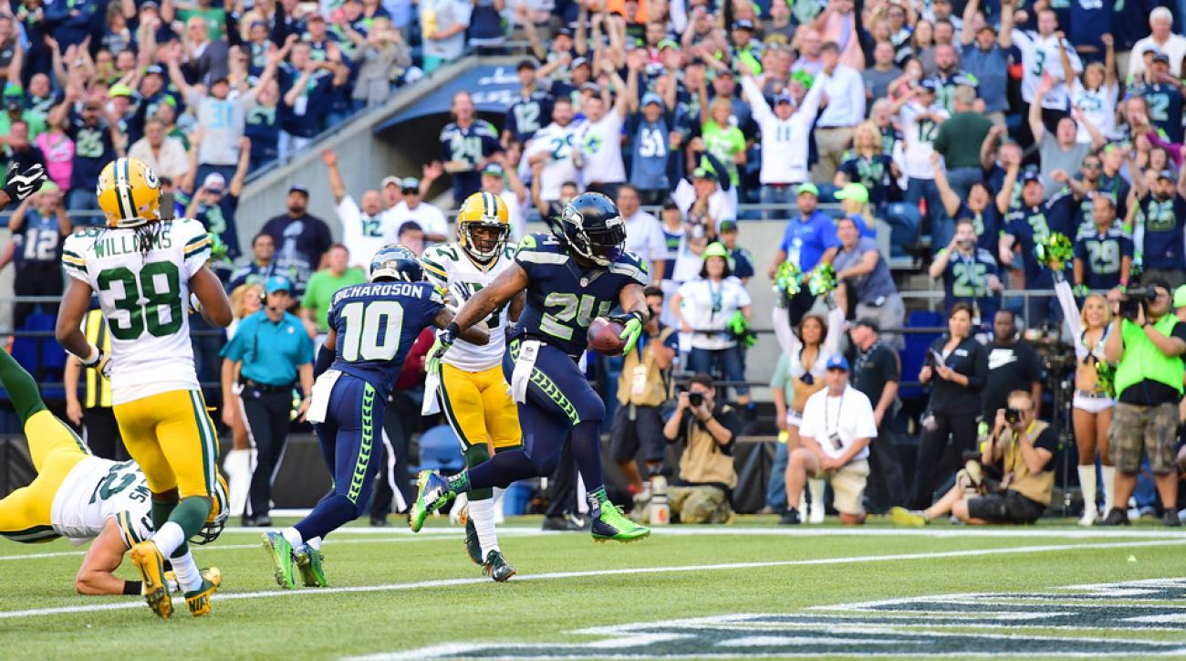Marshawn Lynch TD Packers Seahawks