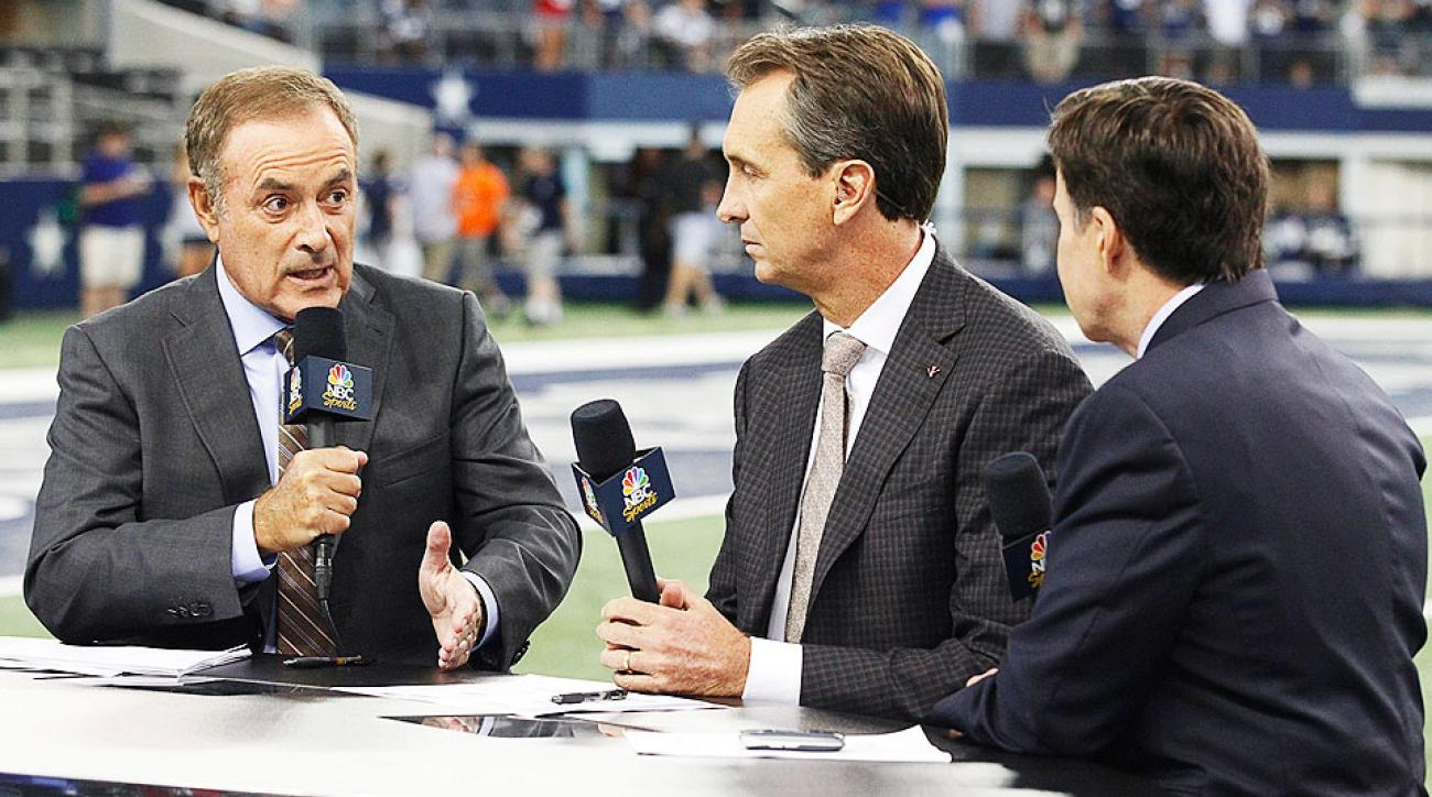Al Michaels, Cris Collinsworth and Bob Costas