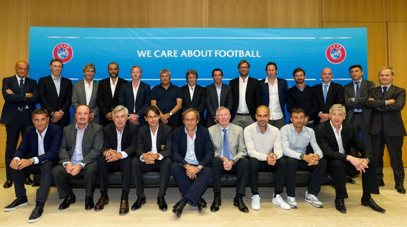 UEFA coaches meet to discuss possible rules changes and Champions League seeding.