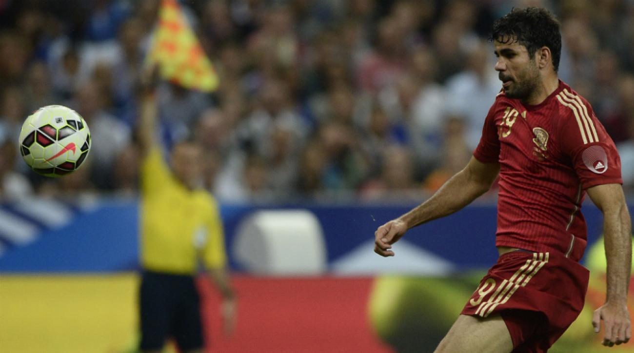 Spain striker Diego Costa injury euro qualifier