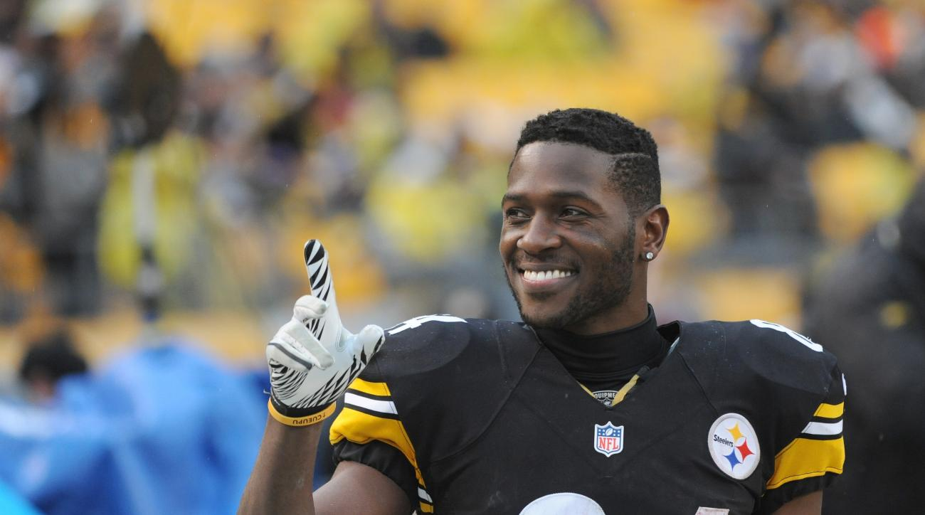antonio brown face kick steelers browns