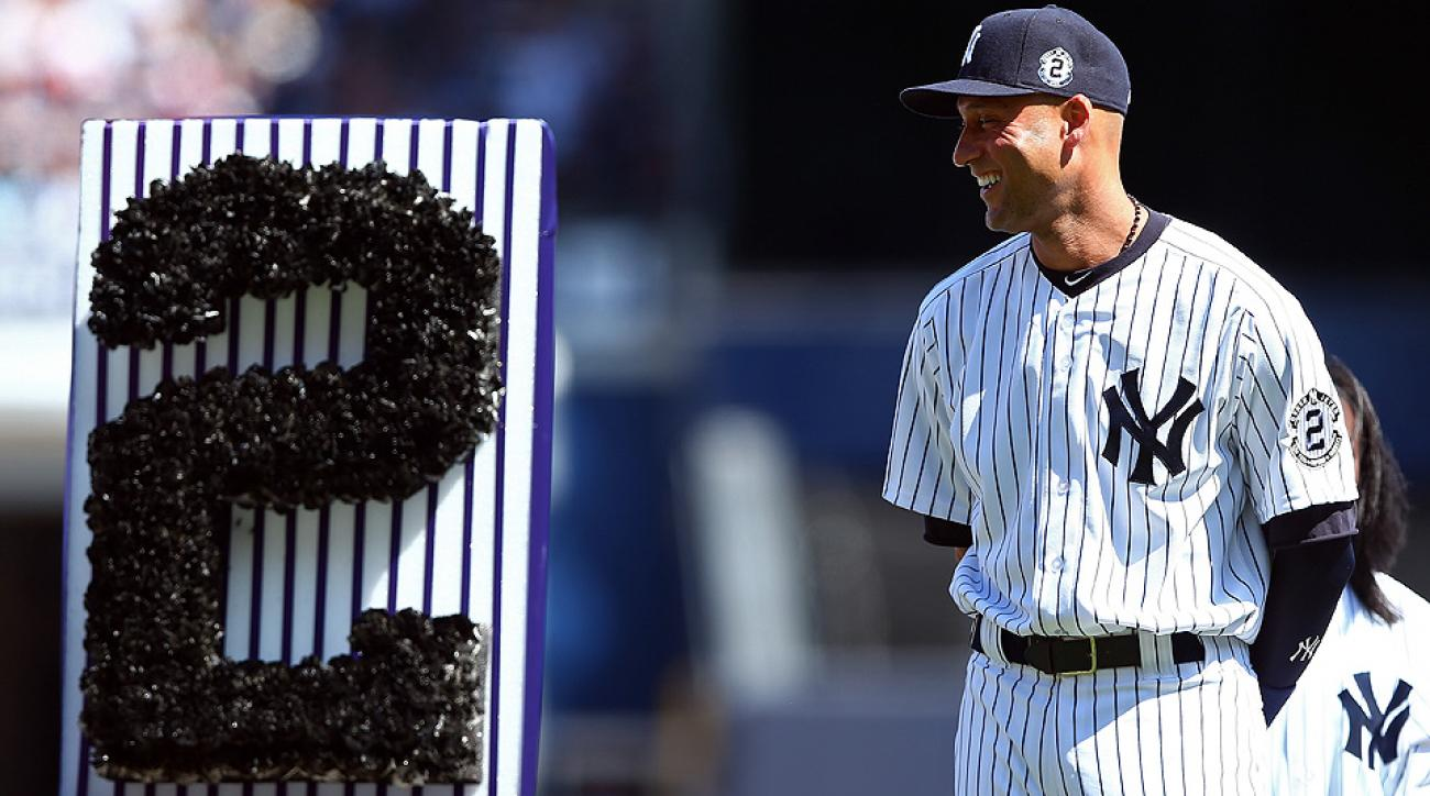 The New York Yankees honored their shortstop Derek Jeter with a star-studded pregame ceremony.