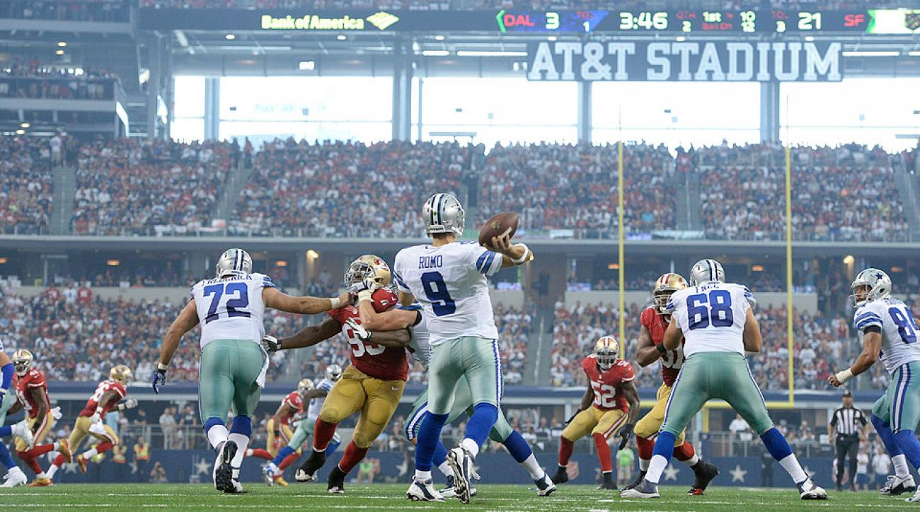 NFL Week 1: Tony Romo struggles, Dallas Cowboys lose to San Francisco 49ers