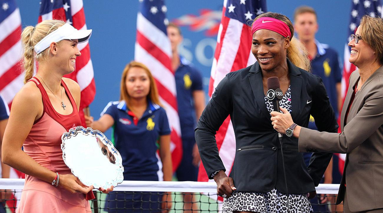 Serena Williams defeated Caroline Wozniacki 6-3, 6-3 for her 18th Grand Slam title.