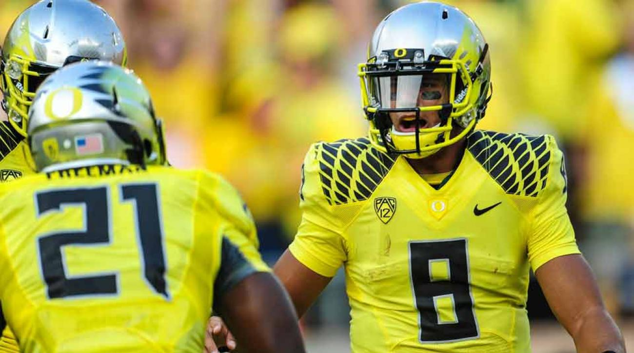 Oregon star quarterback Marcus Mariota