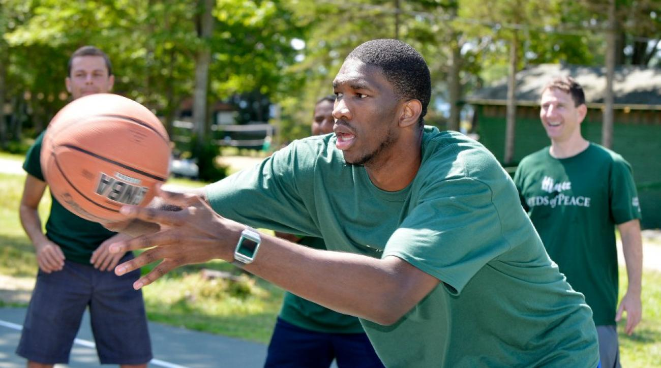 Joel Embiid is trying to use twitter to influence his NBA2K15 rating