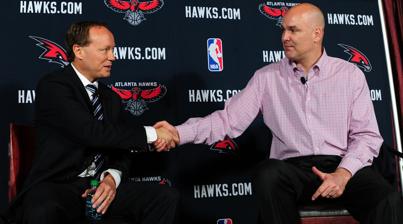 Hawks GM Danny Ferry (right) is in hot water over an alleged racist comment.