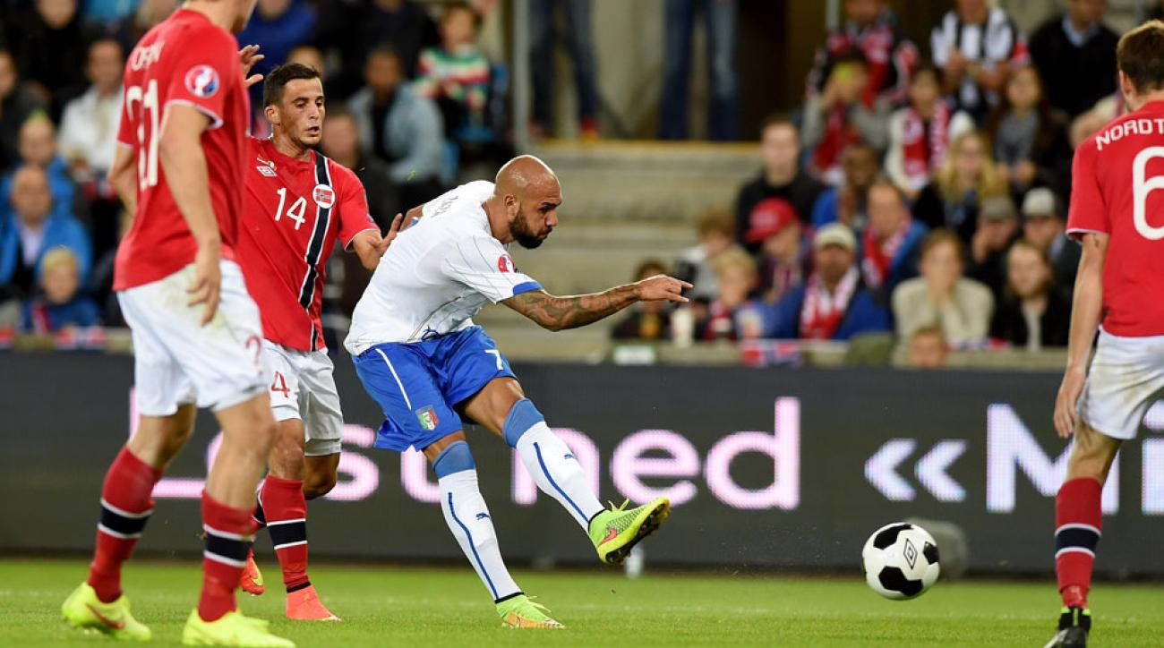 Simone Zaza scored his first international goal in Italy's 2-0 win at Norway in a Euro 2016 qualifier.