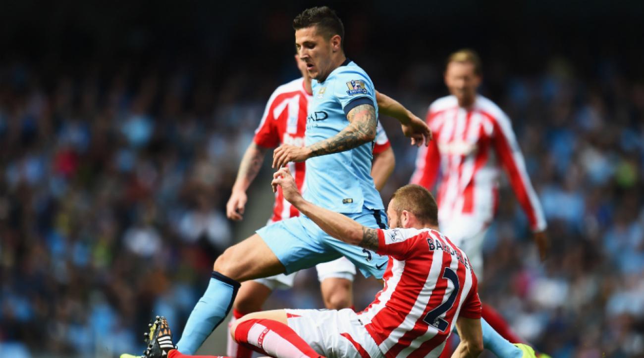 Stevan Jovetic Fernando out Manchester City Arsenal
