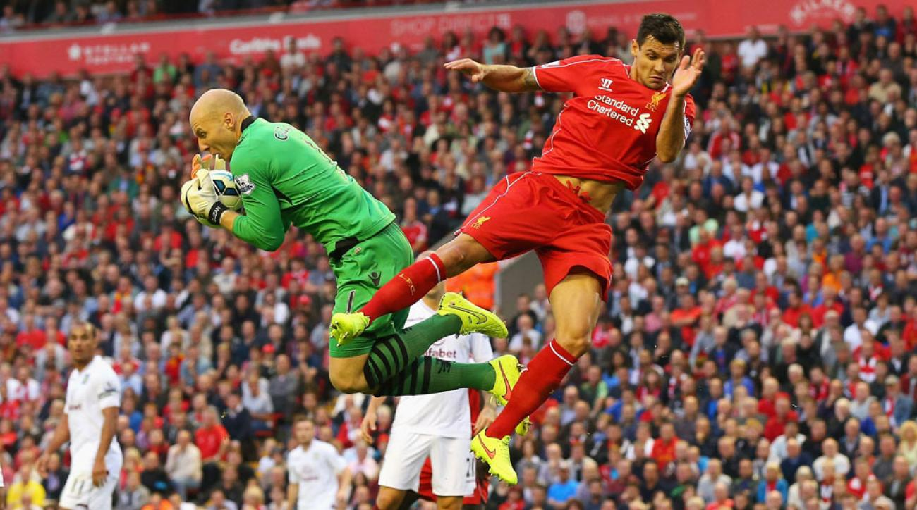 Brad Guzan got his third shutout of the young season with Aston Villa's 1-0 win over Liverpool at Anfield.