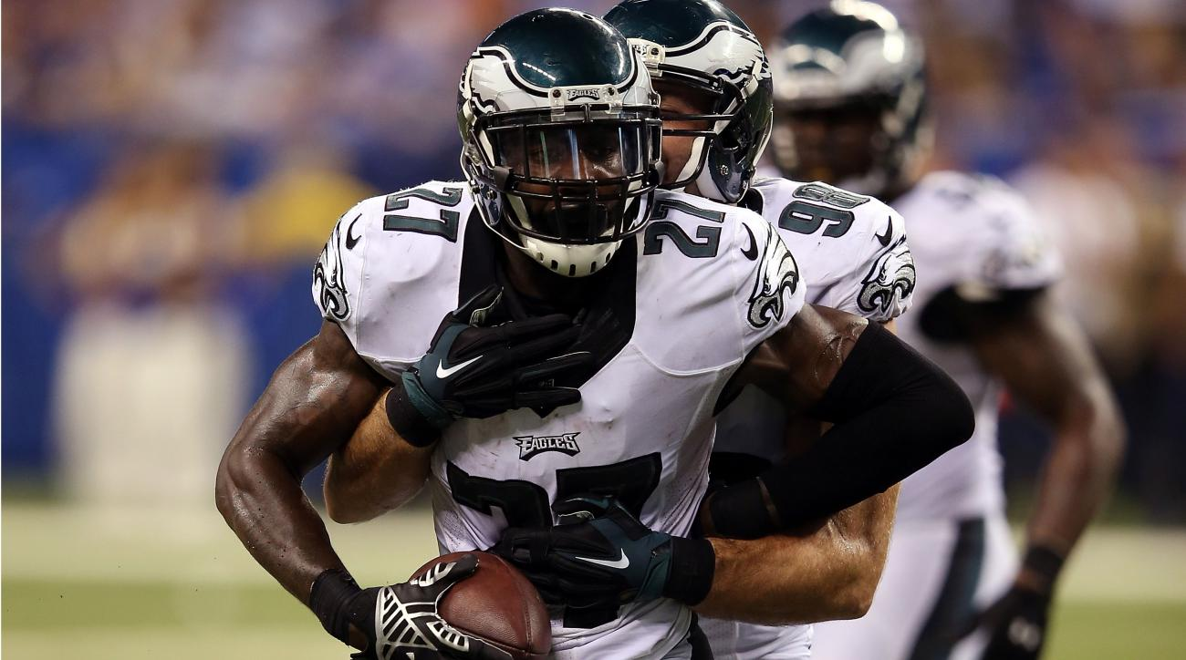 Malcolm Jenkins celebrates his interception.
