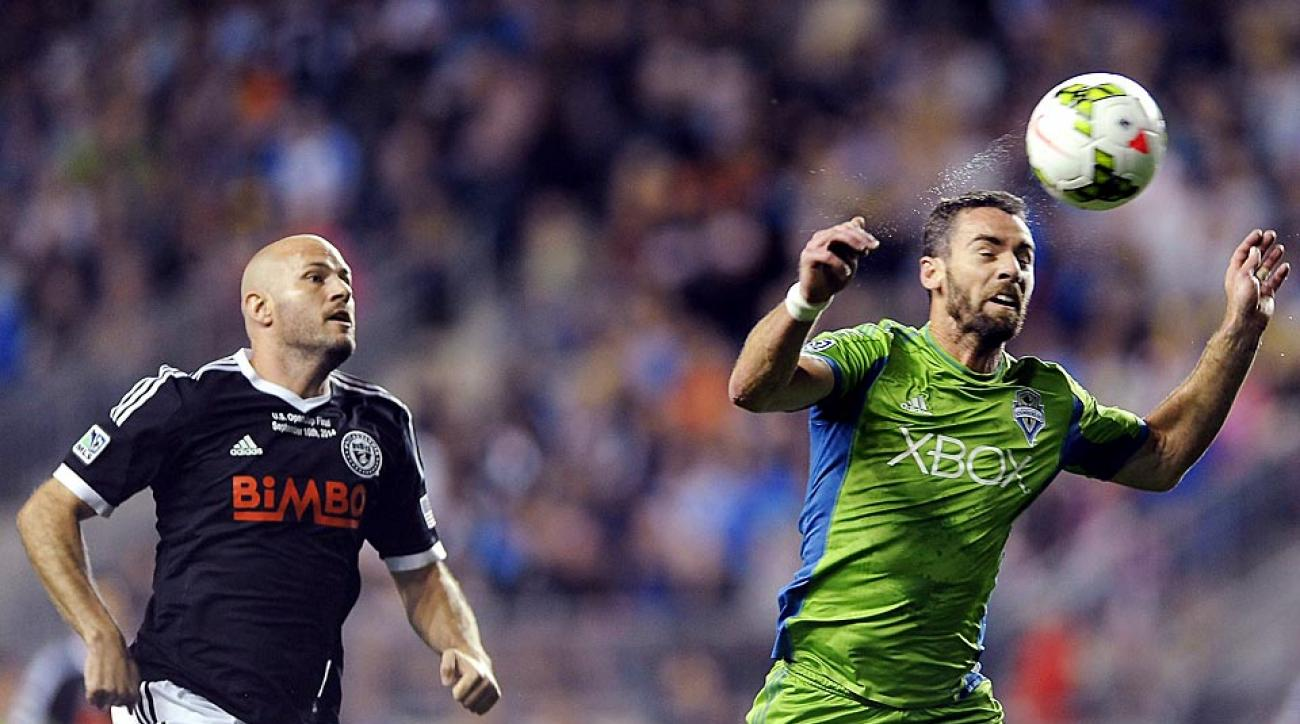 The Seattle Sounders emerged victorious over the Philadelphia Union on Tuesday night to capture the U.S. Open Cup title in Chester, Pa.
