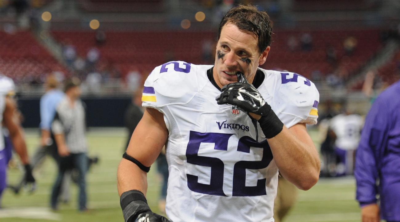 Minnesota Vikings Chad Greenway broken hand