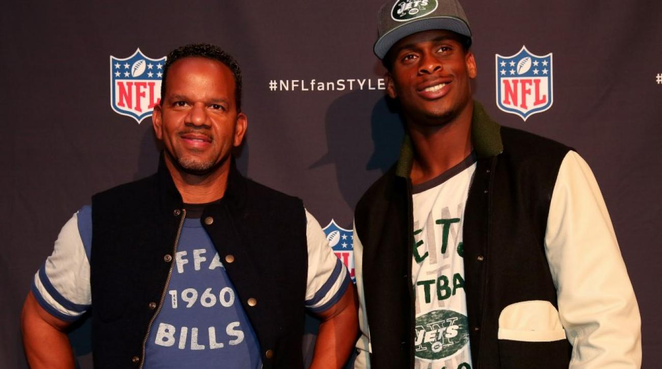 Geno Smith and Andre Reed at the NFL Hall of Fashion