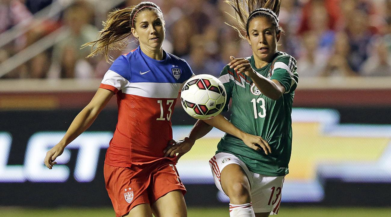 Alex Morgan, shown here against on Sept. 13, completed the scoring on Thursday night against Mexico with a 79th-minute header.