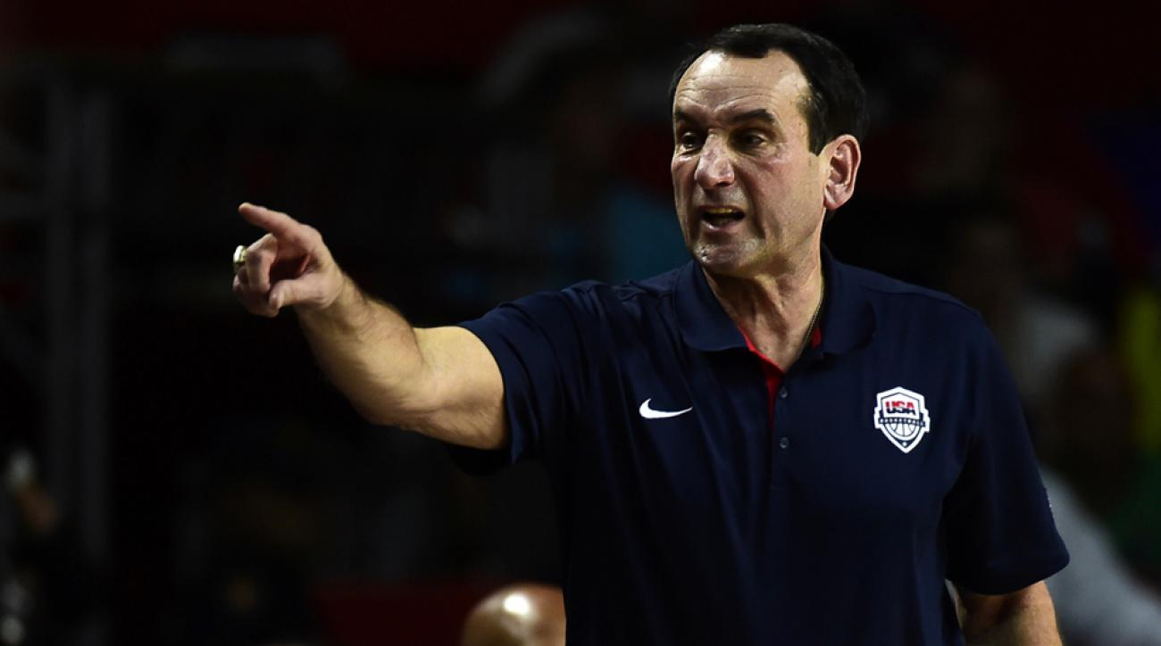 Mike Krzyzewski insists that Duke gets no edge by his coaching the USA basketball team.