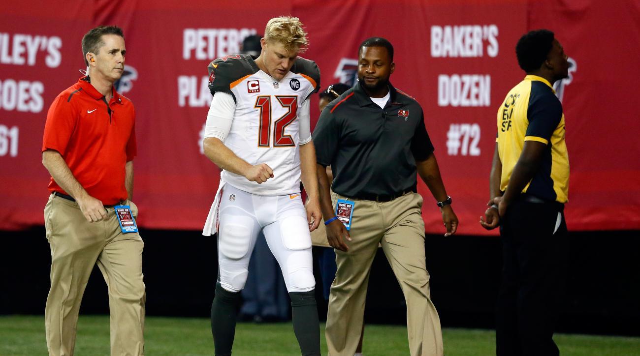Josh McCown Tampa Bay Buccaneers thumb injury Atlanta Falcons