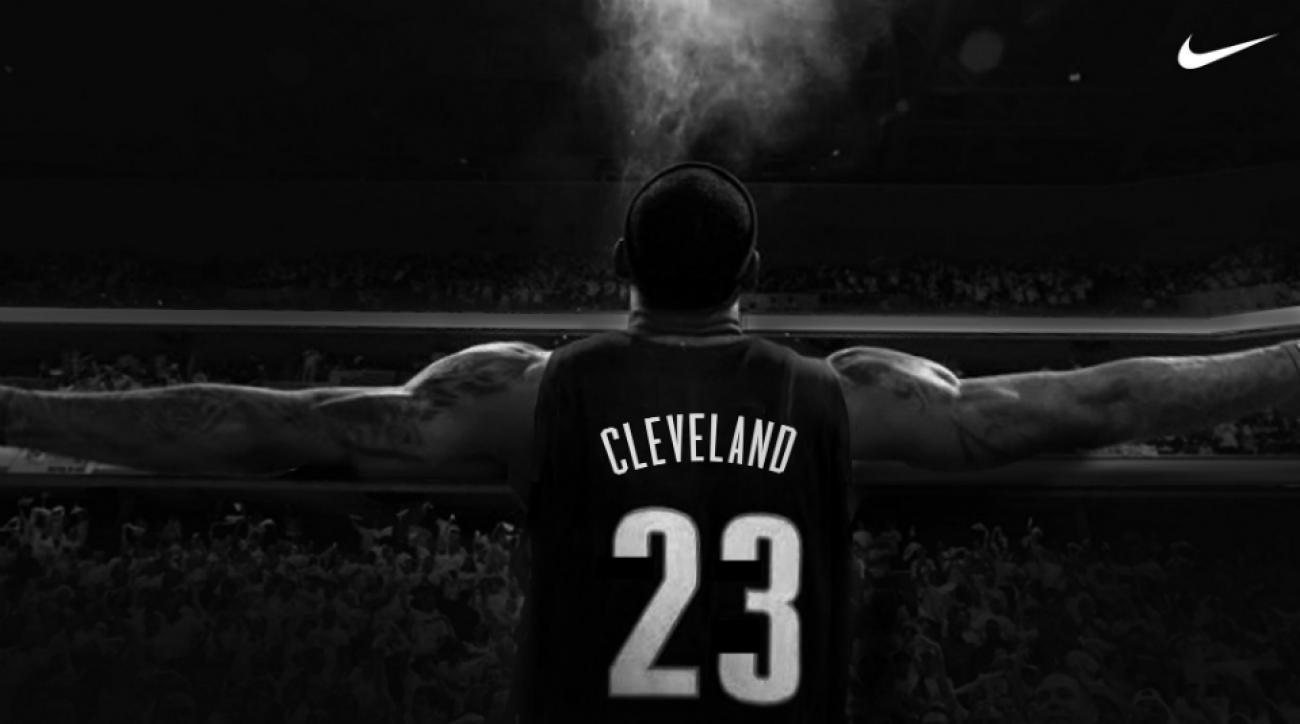 New LeBron James banner cleveland