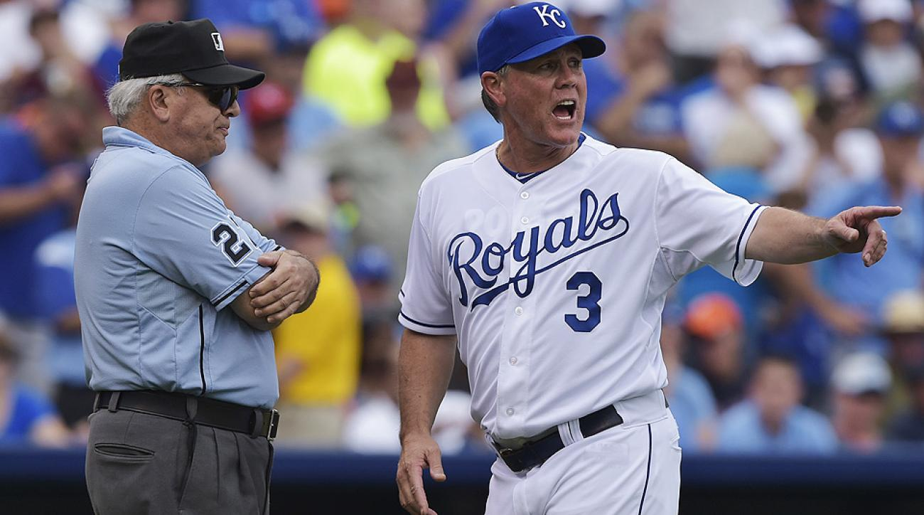 A baserunning error by Salvador Perez in the sixth inning led to controversy during the Royals' loss to the Tigers.