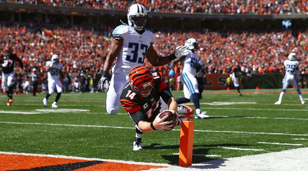 Andy Dalton catches TD pass on trick play for Cincinnati Bengals