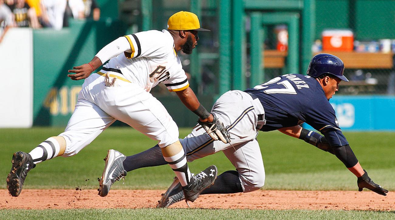 Carlos Gomez's baserunning blunder in the ninth ended a Brewers' rally and led to a crushing 1-0 loss to the Pirates.