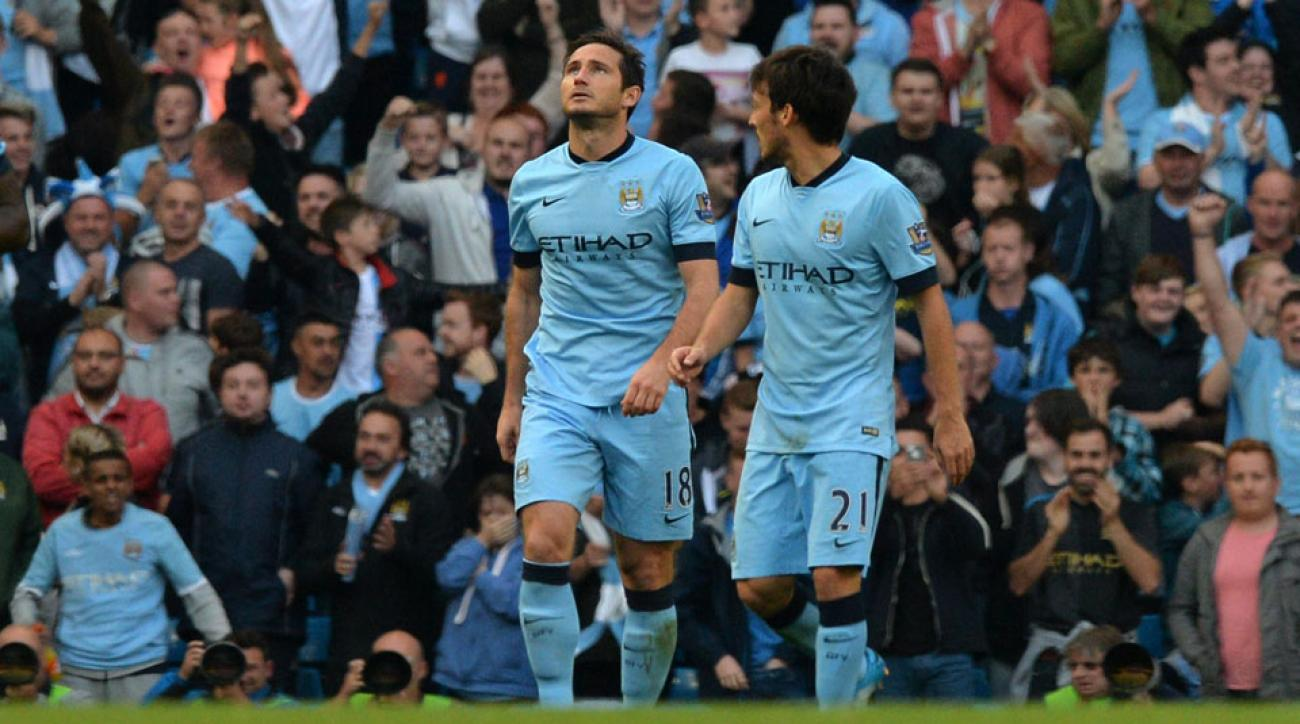 Frank Lampard kept his celebrations muted after scoring the equalizer for Manchester City in a 1-1 draw with Chelsea on Sunday.