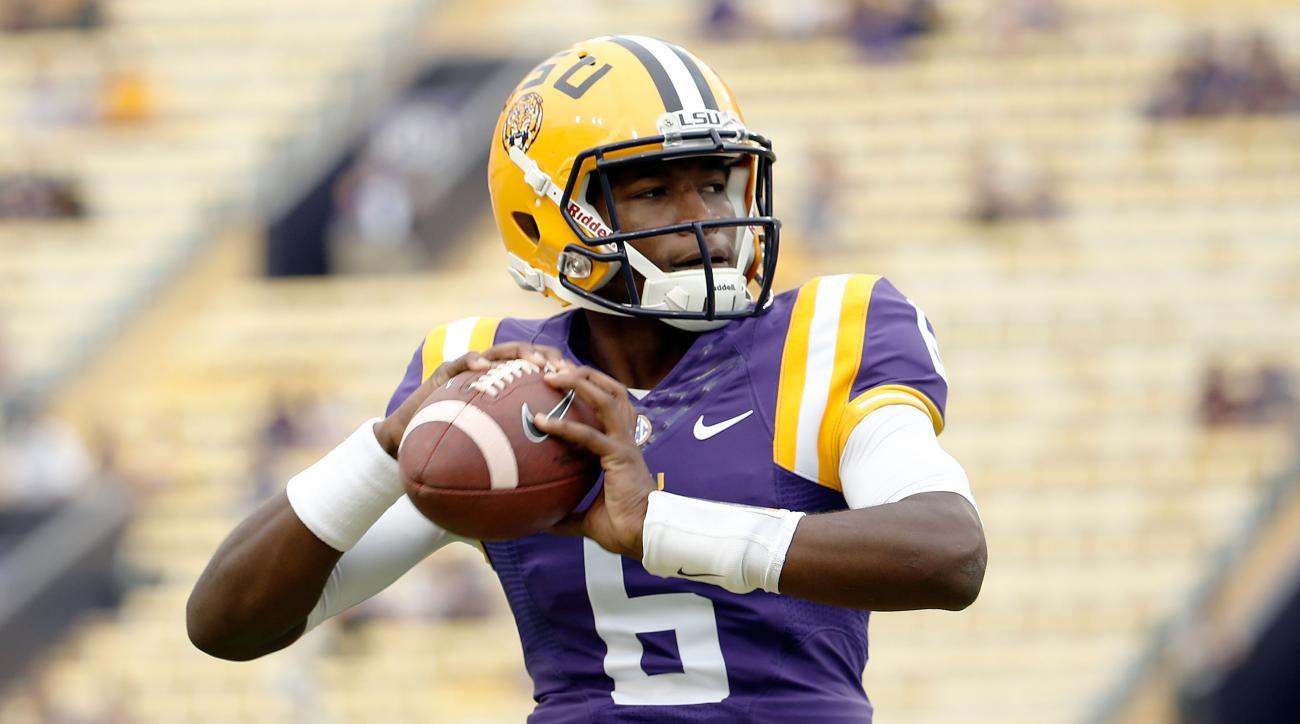 LSU quarterback Brandon Harris Jennings Les Miles Mississippi State