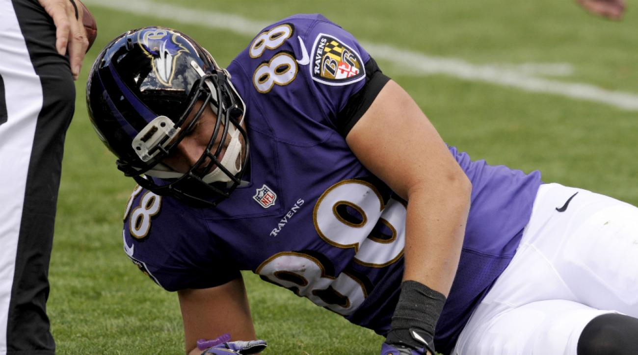 Ravens tight end Dennis Pitta injury