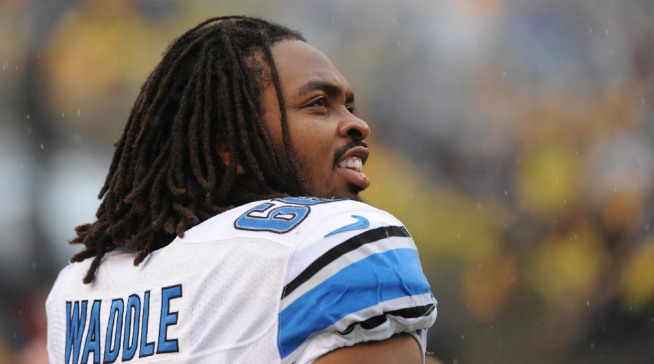 Lions offensive tackle LaAdrian Waddle return