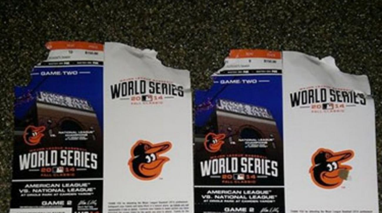 Baltimore Orioles dog chews tickets