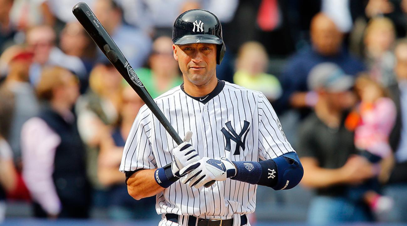 Derek Jeter at bat New York Yankees