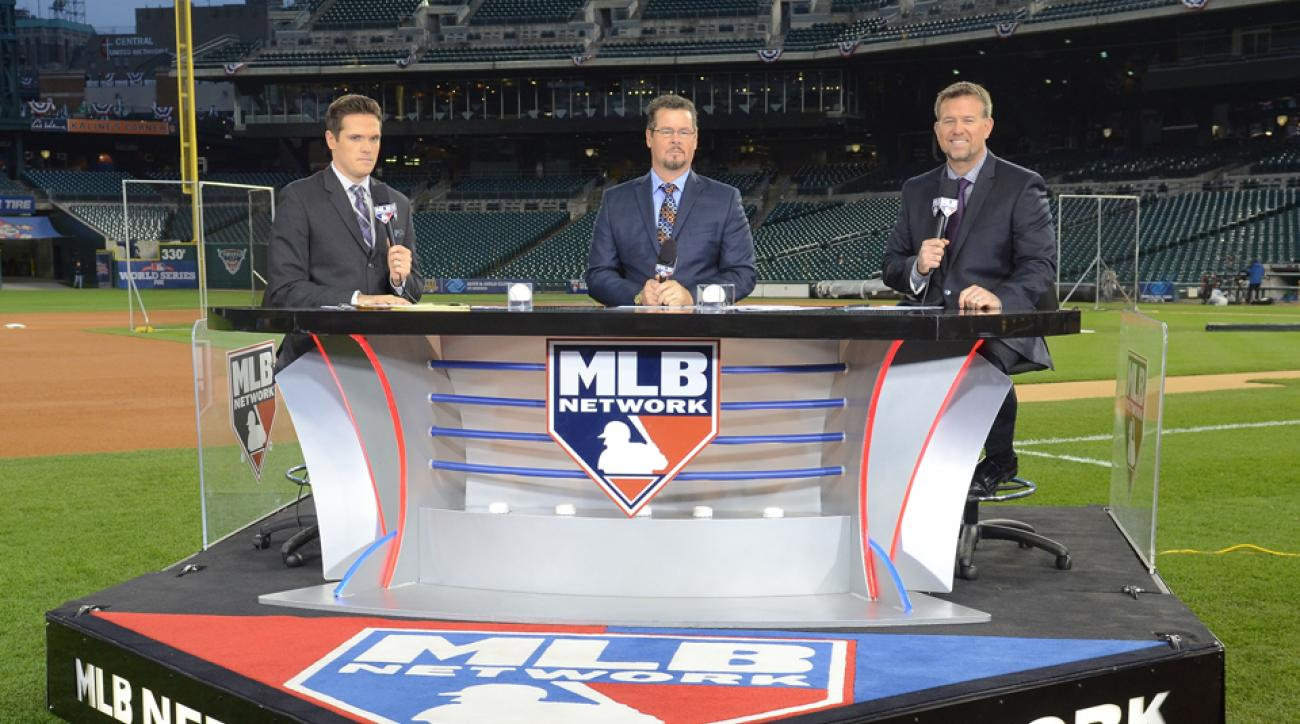 Former pitcher Mitch Williams (center) is suing MLB Network for breach of contract.