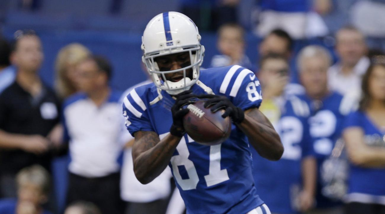 Reggie Wayne was fined on Sunday for wearing short pants with Indianapolis Colts