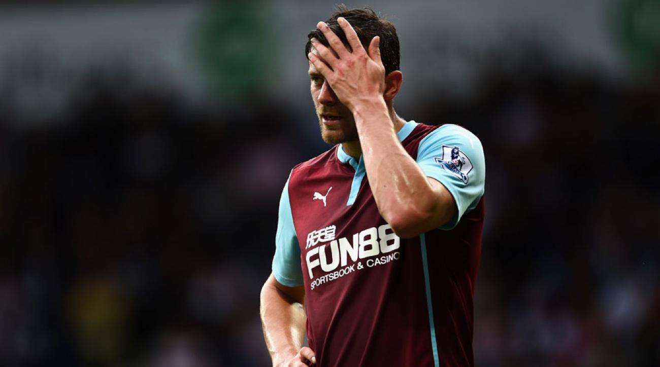 Lukas Jutkiewicz and Burnley have struggled to score in a rough start to life in the English Premier League.