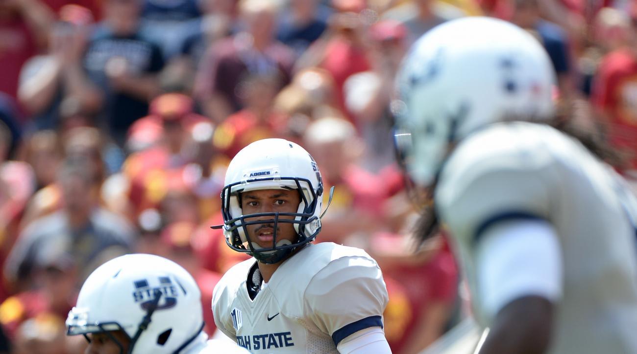 Chuckie Keeton, Utah State Aggies, out season, knee injury, college football, NCAAF