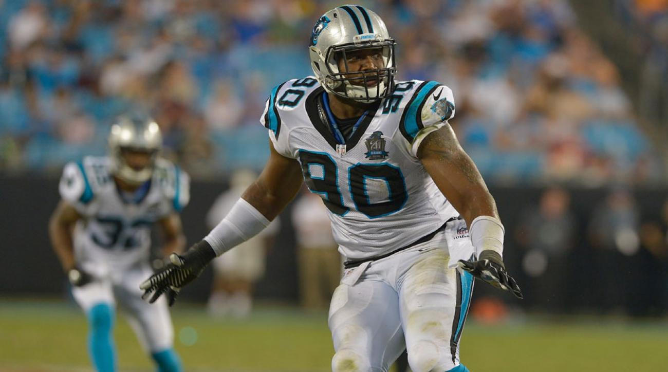 Carolina Panthers defensive end Frank Alexander has been suspended ten games for a second substance abuse violation.