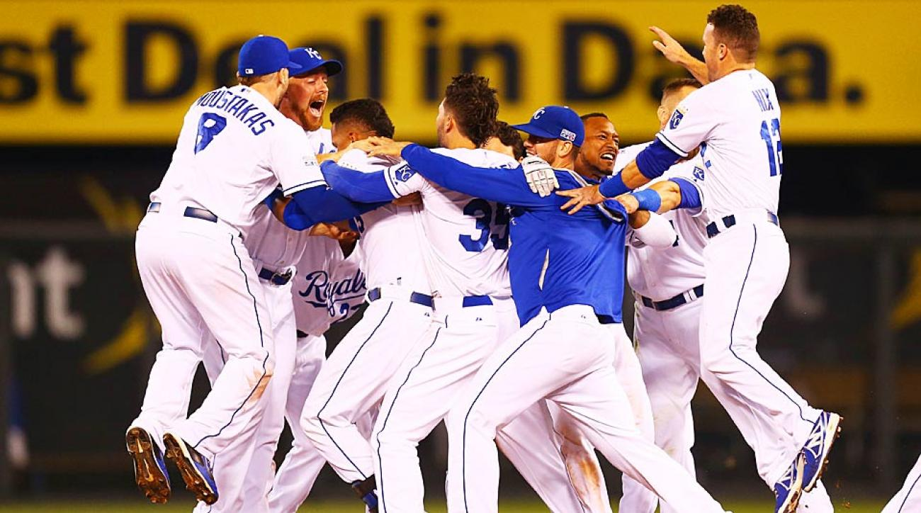 Royals celebrate AL WIld Card win