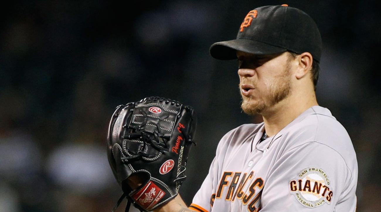 Jake Peavy will start Game 1 of the NLDS for the Giants