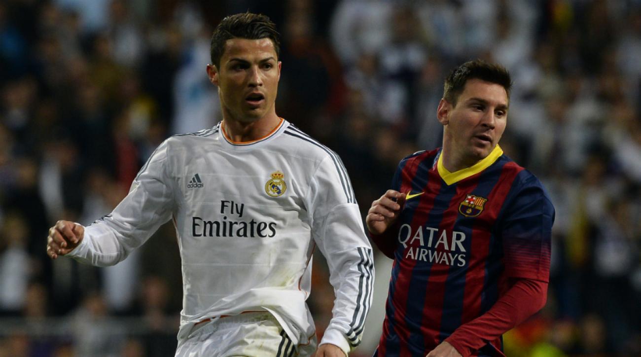 Cristiano Ronaldo and Lionel Messi Argentina Portugal friendly